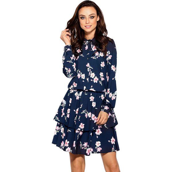 386e39d5bef849 Sukienka w kolorze granatowym - Niebieskie sukienki damskie ...