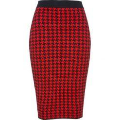 Spódnica dzianinowa bonprix czarno-czerwony sygnałowy. Czarne spódnice damskie bonprix, z dzianiny, klasyczne. Za 74.99 zł.