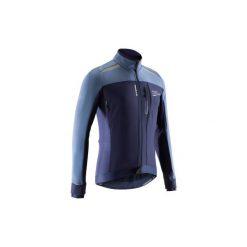 Kurtka na rower szosowy ROADCYCLING 500 męska. Niebieskie kurtki męskie B'TWIN, z elastanu. Za 199.99 zł.