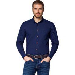 Koszula Jeansowa Granatowa Kenwood. Brązowe koszule męskie LANCERTO, z bawełny, z kontrastowym kołnierzykiem. W wyprzedaży za 199.90 zł.