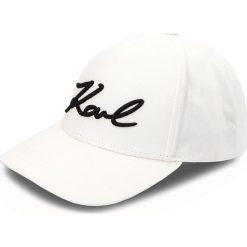 Czapka z daszkiem KARL LAGERFELD - 86KW3412 White. Białe czapki i kapelusze damskie KARL LAGERFELD, z bawełny. Za 249.00 zł.