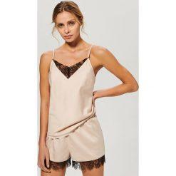 Piżama dwuczęściowa - Beżowy. Koszule nocne damskie marki MAKE ME BIO. Za 99.99 zł.