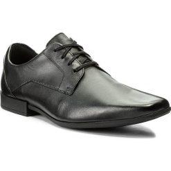 Półbuty CLARKS - Glement Lace 261223117 Black Leather. Czarne eleganckie półbuty Clarks, z materiału. W wyprzedaży za 219.00 zł.