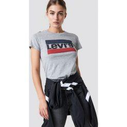 Levi's T-shirt The Perfect Sportswear - Grey. Szare t-shirty damskie Levi's, z nadrukiem, z bawełny, z okrągłym kołnierzem. Za 80.95 zł.