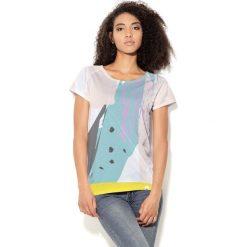 Colour Pleasure Koszulka damska CP-034  26 miętowo-żółto-biała r. XXXL-XXXXL. T-shirty damskie Colour Pleasure. Za 70.35 zł.