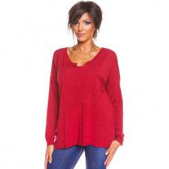 """Sweter """"Coco"""" w kolorze czerwonym. Czerwone swetry damskie So Cachemire, z kaszmiru. W wyprzedaży za 165.95 zł."""
