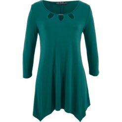 Tunika shirtowa, rękawy 3/4 bonprix zielony głęboki. Zielone tuniki damskie bonprix. Za 89.99 zł.