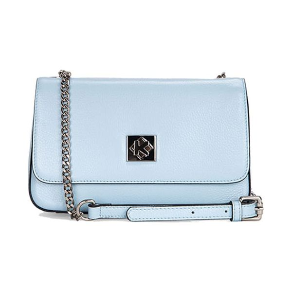 Skórzana torebka w kolorze niebieskim (S)23 x (W)14 x (G)7,5 cm