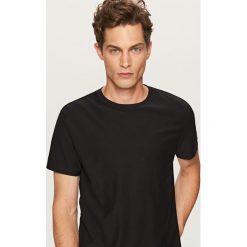 T-shirt o prążkowanej fakturze - Czarny. T-shirty męskie marki Giacomo Conti. W wyprzedaży za 29.99 zł.