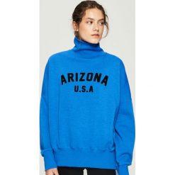 Bluza z golfem - Niebieski. Bluzy damskie marki Sinsay. W wyprzedaży za 39.99 zł.