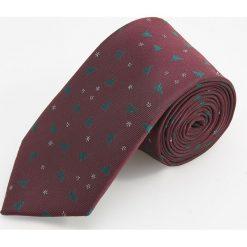 Świąteczny krawat - Bordowy. Czerwone krawaty i muchy Reserved, wizytowe. Za 49.99 zł.