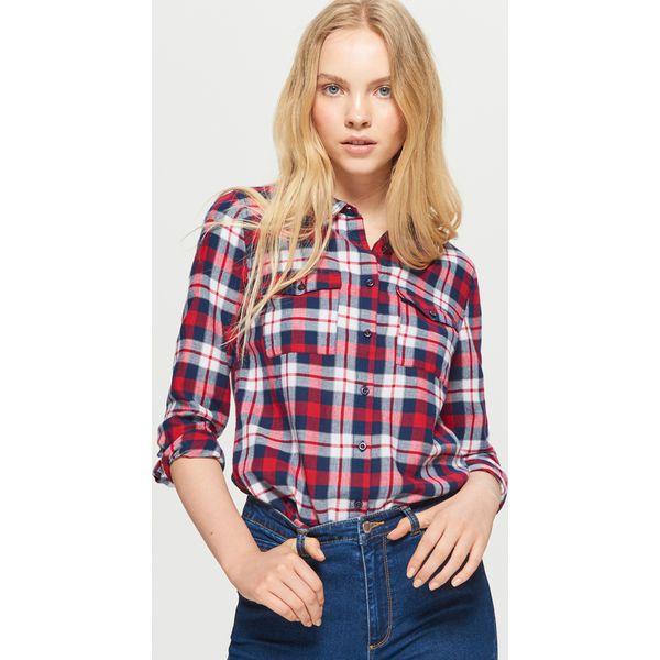 56a867676cbf60 Koszula w kratę - Czerwony - Koszule damskie marki Cropp. W ...