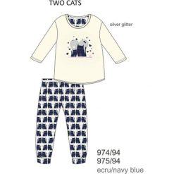 Piżama dziewczęca DR 974/94 Two cats Ecru r. 116. Szare bielizna dla dziewczynek Cornette. Za 51.73 zł.