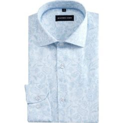 Koszula SIMONE KDWR000394. Szare koszule męskie Giacomo Conti, na lato, z bawełny, z włoskim kołnierzykiem, z długim rękawem. Za 199.00 zł.