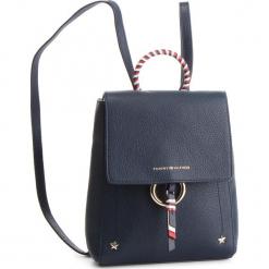 Plecak TOMMY HILFIGER - Heritage Leather Backpack AW0AW06250 413. Niebieskie plecaki damskie Tommy Hilfiger, ze skóry, klasyczne. Za 899.00 zł.