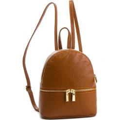 Plecak CREOLE - K10577  Koniak. Brązowe plecaki damskie Creole, ze skóry. Za 169.00 zł.