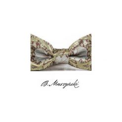 MUCHA William Morris #4. Szare krawaty i muchy B.muszyński, w paski, z tkaniny, eleganckie. Za 100.00 zł.