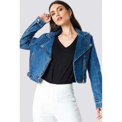 NA-KD Trend Kurtka jeansowa Biker - Blue. Niebieskie kurtki damskie NA-KD Trend, z jeansu. Za 242.95 zł.