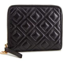 Mały Portfel Damski TORY BURCH - Fleming Medium Wallet 43558 Black 001. Czarne portfele damskie Tory Burch, ze skóry. Za 729.00 zł.