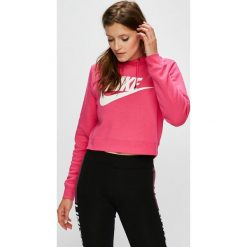 Nike Sportswear - Bluza. Szare bluzy damskie Nike Sportswear, z nadrukiem, z bawełny. Za 219.90 zł.