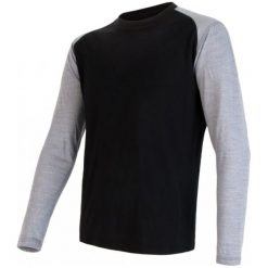 Sensor Koszulka Termoaktywna Z Długim Rękawem Merino Active Pt Logo M Black/Gray Xxl. Czarne koszulki sportowe męskie Sensor, z materiału, z długim rękawem. W wyprzedaży za 165.00 zł.