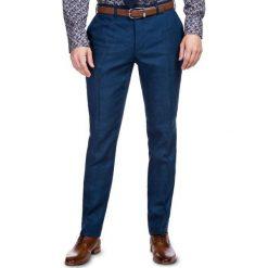 Spodnie LEONARDO SLIM GDNS900094. Niebieskie eleganckie spodnie męskie Giacomo Conti. Za 399.00 zł.
