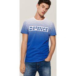 T-shirt z nadrukiem - Niebieski. T-shirty męskie marki Giacomo Conti. W wyprzedaży za 29.99 zł.