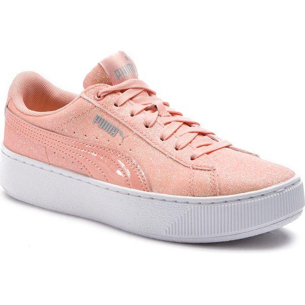 Sneakersy PUMA Vikky Platform Glitz Jr 366856 04 Peach BudPeach Bud
