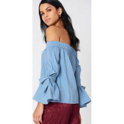 NA-KD Sukienka z odkrytymi ramionami - Blue. Sukienki damskie NA-KD. W wyprzedaży za 85.37 zł.