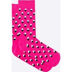 Happy Socks - Skarpetki Mini Diamond. Różowe skarpety damskie Happy Socks, z bawełny. W wyprzedaży za 29.90 zł.