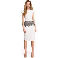 Sukienka ołówkowa z koronką s108. Szare sukienki damskie Style, w koronkowe wzory, z koronki. Za 149.90 zł.
