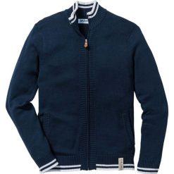 Sweter rozpinany ze stójką bonprix ciemnoniebieski. Kardigany męskie marki bonprix. Za 89.99 zł.