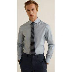 Mango Man - Krawat Raya. Szare krawaty i muchy Mango Man, z jedwabiu. Za 119.90 zł.