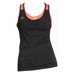 Umbro Koszulka Tank Top Womens Black/Fiery Coral Xs. Topy damskie Umbro, xs. W wyprzedaży za 39.00 zł.
