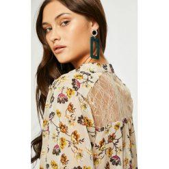 Answear - Koszula Heritage. Szare koszule damskie ANSWEAR, z koronki, casualowe, z długim rękawem. W wyprzedaży za 119.90 zł.