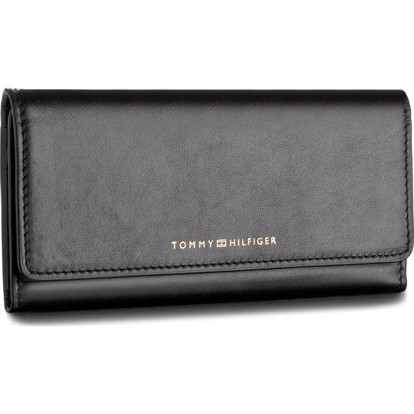 7c2c01cf8b98c Duży Portfel Damski TOMMY HILFIGER - Smooth Leather Ew Slim Flap ...