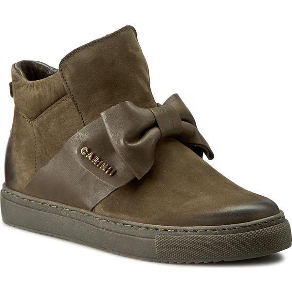 483b0e371576 Sneakersy CARINII - B3834 I43-I45-PSK-B67 - Zielone półbuty damskie ...