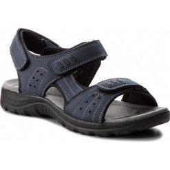 Sandały LANETTI - MS17008-1 Granatowy. Niebieskie sandały męskie Lanetti, z materiału. Za 79.99 zł.