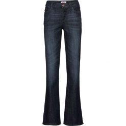 Dżinsy ze stretchem BOOTCUT bonprix ciemnoniebieski. Niebieskie jeansy damskie bonprix. Za 74.99 zł.
