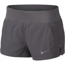 Nike Spodenki Do Biegania Damskie W Nk Eclipse 3in Short, Gunsmoke L. Szare szorty damskie Nike, z materiału, sportowe. W wyprzedaży za 135.00 zł.