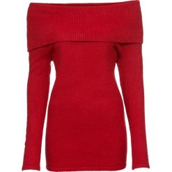 Sweter z odkrytymi ramionami bonprix ciemnoczerwony. Swetry damskie marki bonprix. Za 74.99 zł.