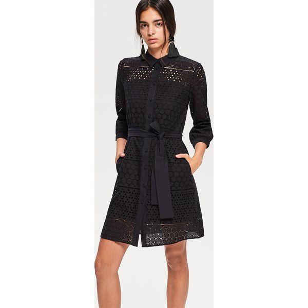 51a907cf79 Ażurowa sukienka - Czarny - Sukienki damskie marki Reserved. Za ...