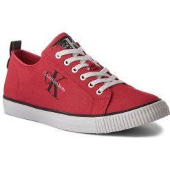 Tenisówki CALVIN KLEIN JEANS - Arnold Denim S1483 Red. Czerwone trampki męskie Calvin Klein Jeans, z denimu. W wyprzedaży za 249.00 zł.