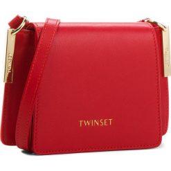 Torebka TWINSET - Tracolla Piccola AA8PGB Papavero 00456. Czerwone listonoszki damskie Twinset, ze skóry. W wyprzedaży za 669.00 zł.