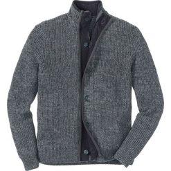 Sweter rozpinany Regular Fit bonprix antracytowo-szary melanż. Szare kardigany męskie bonprix, melanż. Za 109.99 zł.