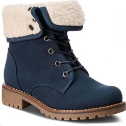 Trapery JENNY FAIRY - WS722-25A Cobalt Blue. Niebieskie śniegowce i trapery damskie Jenny Fairy, z materiału. Za 129.99 zł.