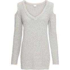 Sweter z szenili z nitką lureksową bonprix jasnoszaro-srebrny. Swetry damskie marki KALENJI. Za 74.99 zł.