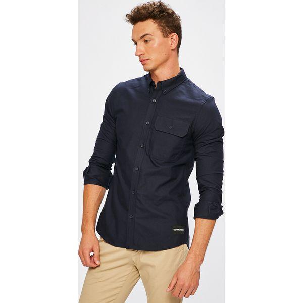 d7efbcfef Calvin Klein Jeans - Koszula - Szare koszule męskie Calvin Klein ...