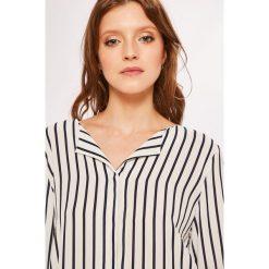 Vila - Koszula. Szare koszule damskie Vila, w paski, z materiału, z długim rękawem. W wyprzedaży za 129.90 zł.