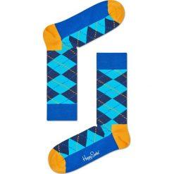 Happy Socks - Skarpety Argyle. Niebieskie skarpety męskie Happy Socks, z bawełny. Za 39.90 zł.